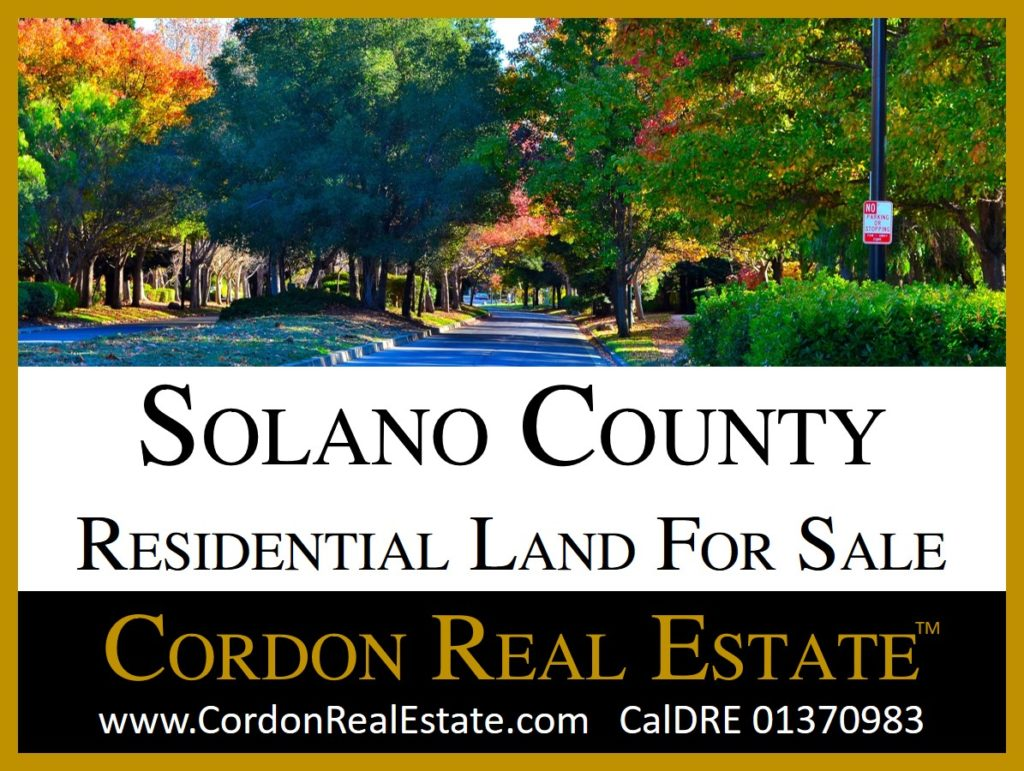 Solano County Residential Land For Sale Cordon Real Estate