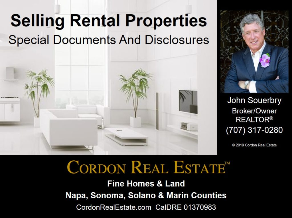 Selling Rental Properties Special Documents and Disclosures Cordon Real Estate