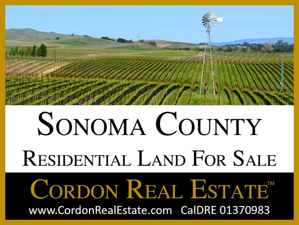 Sonoma County Residential Land For Sale Cordon Real Estate