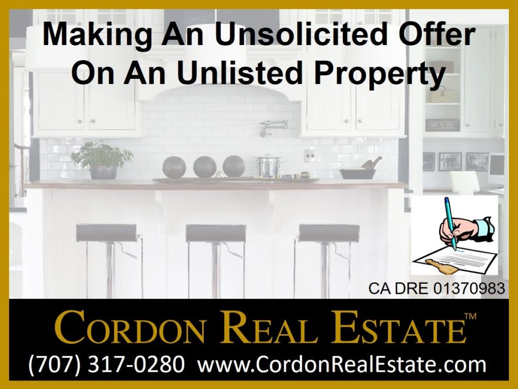 Making An Unsolicited Offer On An Unlisted Property Cordon Real Estate