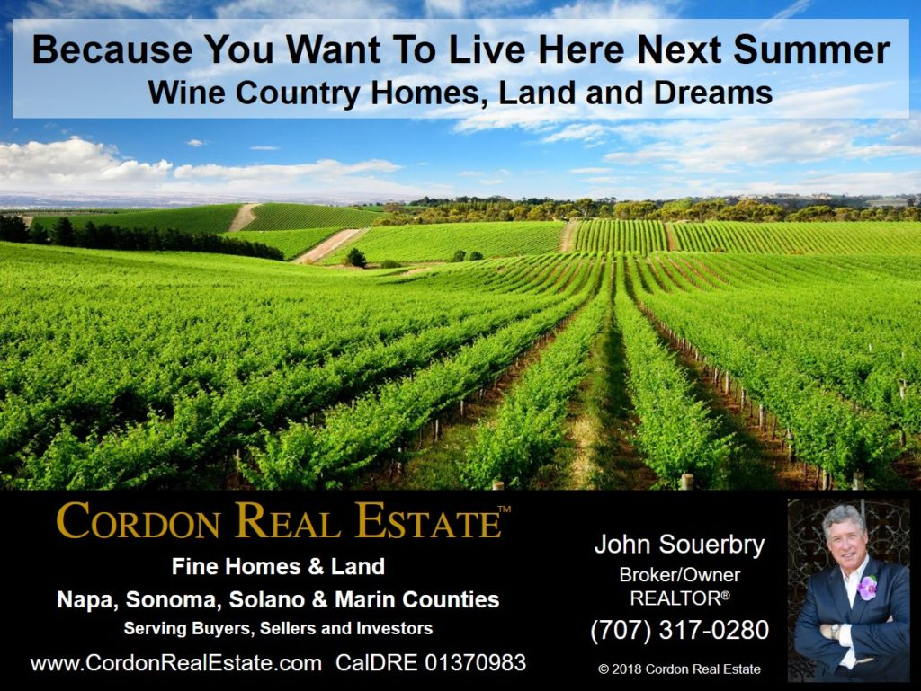 Because You Want To Living in Sonoma County Wine Country Next Summer Wine Country Homes Land and Dreams Cordon Real Estate