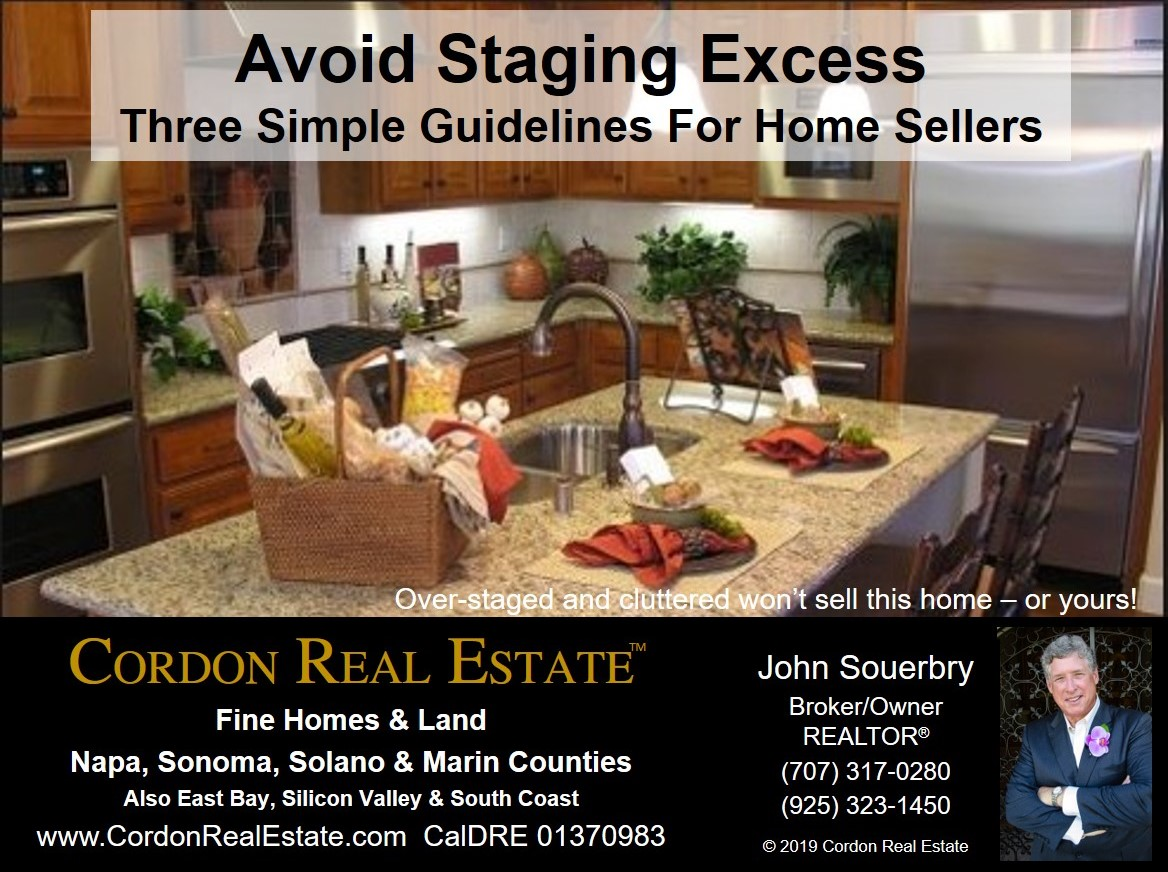 Home Sellers Avoid Staging Excess Cordon Real Estate