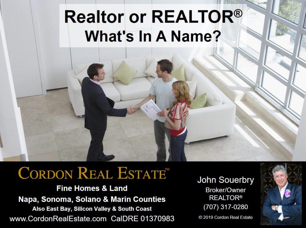 Realtor or REALTOR Whats In A Name Cordon Real Estate