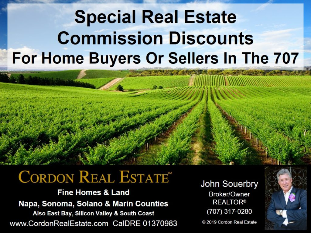 Special Real Estate Commission Discounts For Home Buyers Or Sellers In The 707 Cordon Real Estate