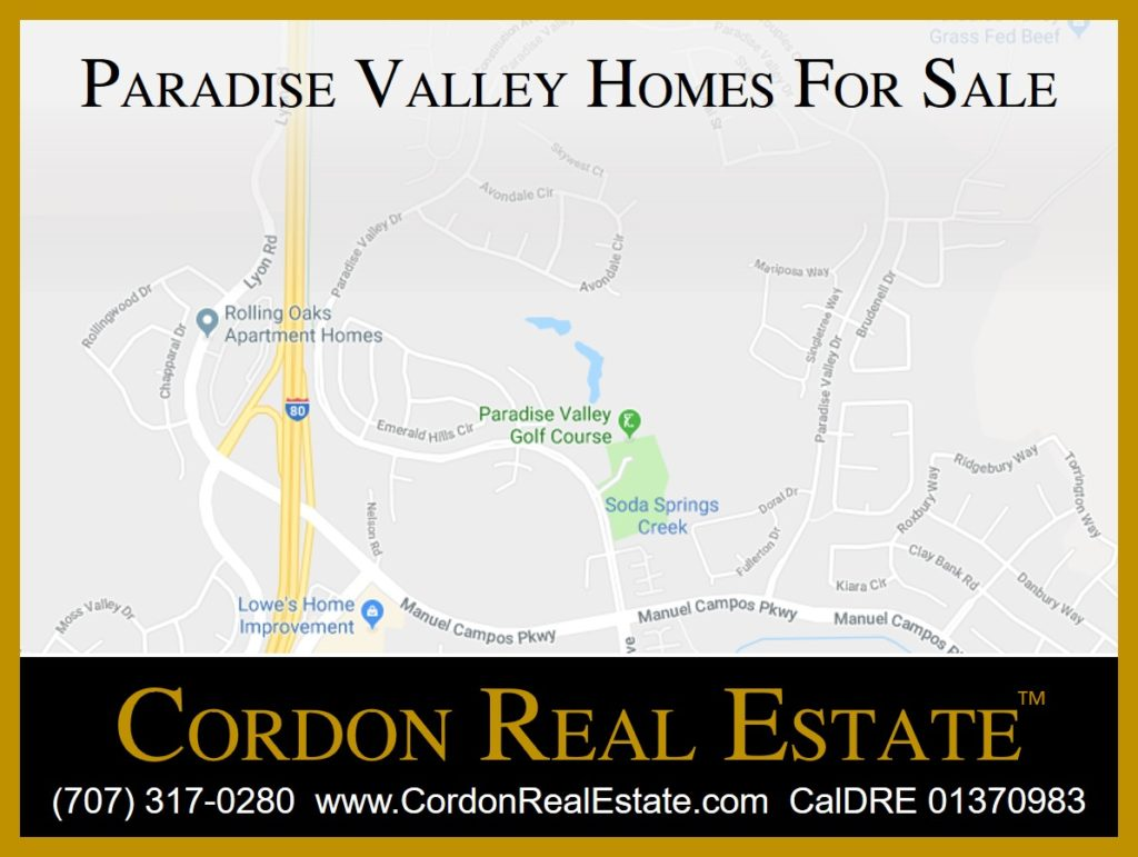 Paradise Valley Homes For Sale Fairfield CA Cordon Real Estate
