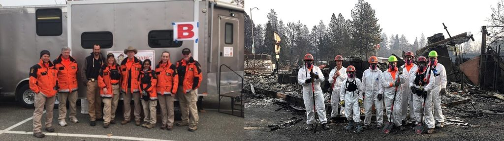 Solano County SAR Team at Camp Fire in Paradise CA November 2018