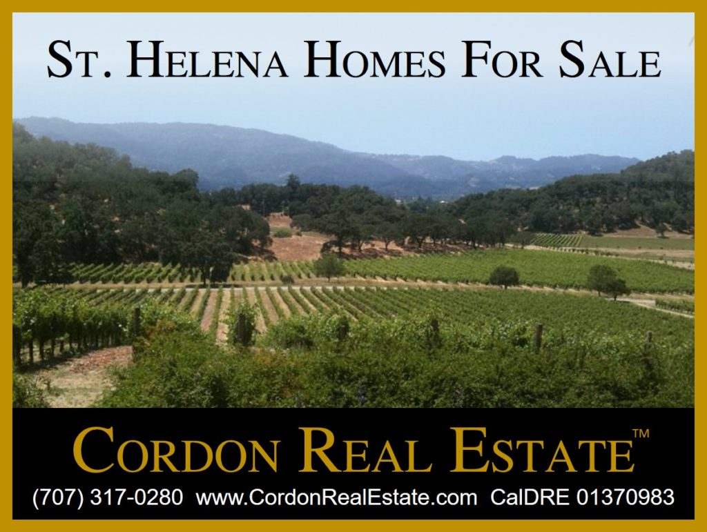 St Helena Homes For Sale Napa Valley Cordon Real Estate