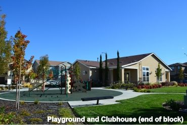 Playground and clubhouse