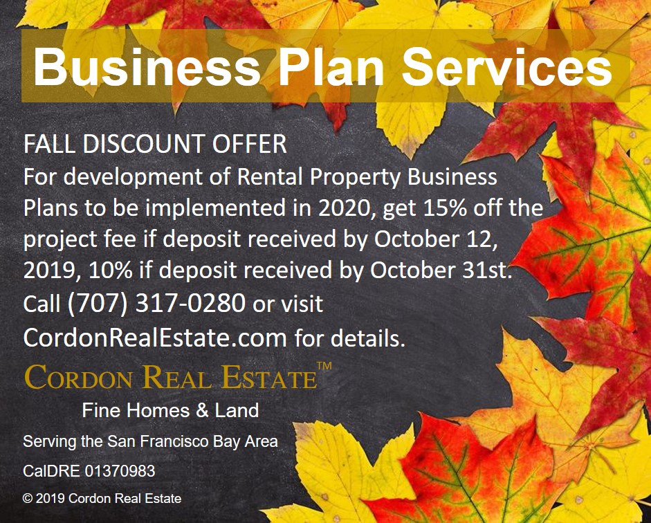 Business Plan Serivces Fall Discount offer 2019 Cordon Real Estate