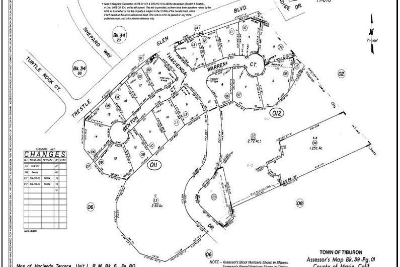 4 Warren Court Tiburon plat map