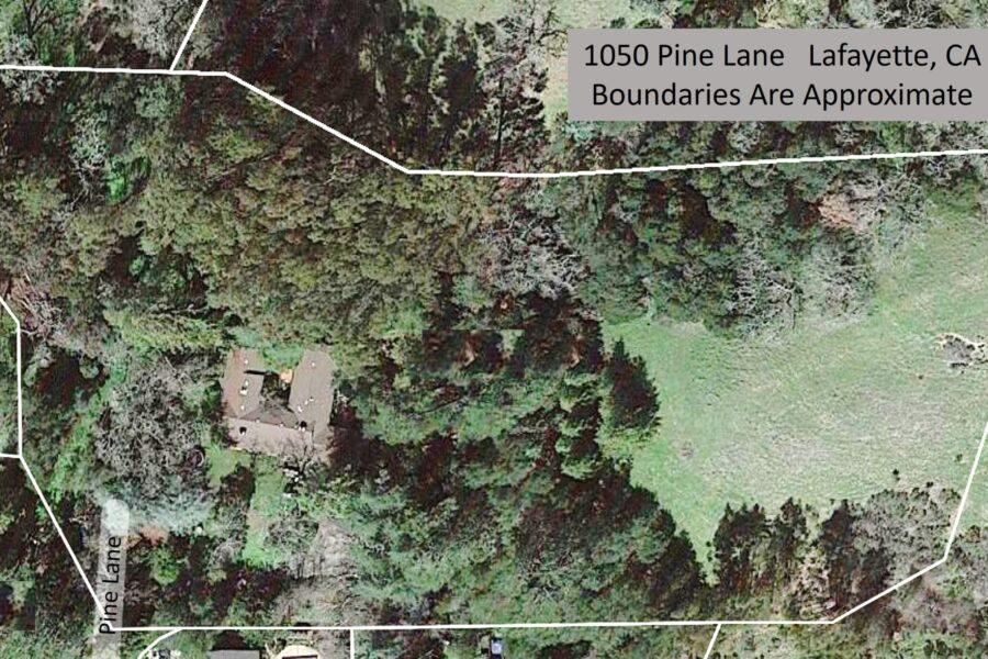 1050 Pine Lane approximate boundaries